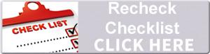 Recheck checklist